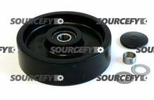 "Mobile Steer Wheel Assy - 7"" DiameterTread: Poly, Hub: Nylon MO 120X105-A-ST"