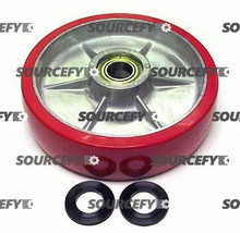 Multiton Steer Wheel Assy - 25mm Bearing IDTread: Ultra-Poly, Hub: Aluminum MU 800-P-HD