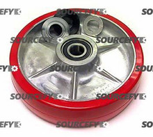 Multiton Steer Wheel Assy - 20mm Bearing IDTread: Ultra-Poly, Hub: Aluminum MU 90100-01-P-HD