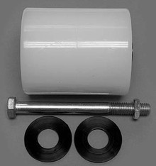 "Multiton Load Roller Assy - 3-1/4"" DiameterTread: Nylon, Hub: Nylon MU 90320"