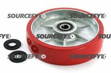 "PALLETMASTER STEER WHEEL ASSY - 3/4"" BEARING ID,  FLANGEDTREAD: ULTRA-POLY,  HUB: ALUMINUM PM 01.13-A-FB-HD"