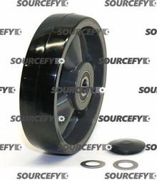 Pallet Mule (Wesley) Steer Wheel Assy - 20mm Bearing IDTread: Poly, Hub: Nylon PU 47-2