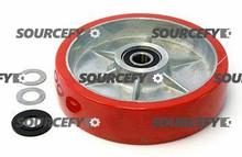 Pallet Mule (Wesley) Steer Wheel Assy - 20mm Bearing IDTread: Ultra-Poly, Hub: Aluminum PU A8x2 PMWB-HD