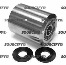 Pallet Mule (Wesley) Load Roller Assy - 20mm Bearing IDTread: Steel, Hub: Steel PU AA-3x4 SMWB