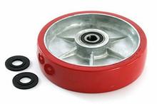 """Pallet Mule (Wesley) Steer Wheel Assy - 3/4"""" Bearing IDTread: Ultra-Poly, Hub: Aluminum PU B-1-10-P-HD"""