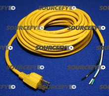 AMERICAN LINCOLN POWER CORD, 18/3 50' RIB YELLO 1403859640