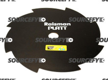 "Brushcutter Blade - 08 Teeth - 255 mm (10"") x 20 mm x 1.80 mm"