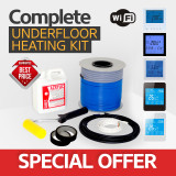 Electric underfloor heating loose cable kit 10.6 - 13.3m2