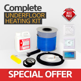 Electric underfloor heating loose cable kit 8.6 to 10.3m2 (ORG)