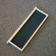 ASSEMBLED WOOD FRAME FOR HONEY SUPERS WITH FOUNDATION