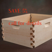 10 FRAME UNASSEMBLED DEEP HIVE BODY (PALLET QUANTITY 130) BUY TWO PALLETS & SAVE $1 PER BOX