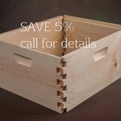8 FRAME UNASSEMBLED DEEP HIVE BODY (PALLET QUANTITY 130) BUY TWO PALLETS & SAVE $1 PER BOX