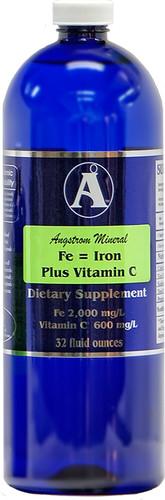 Angstrom Minerals - Iron Plus Vitamin C 32 oz