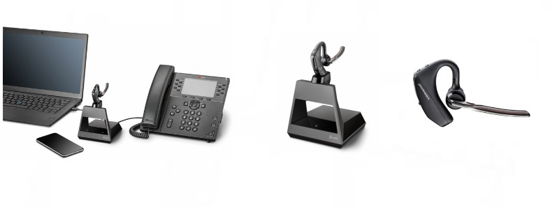 New Voyager 5200 Office And Uc Series Bluetooth Headset Features Lexair