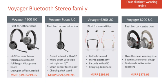 Plantronics Voyager Headsets Microsoft