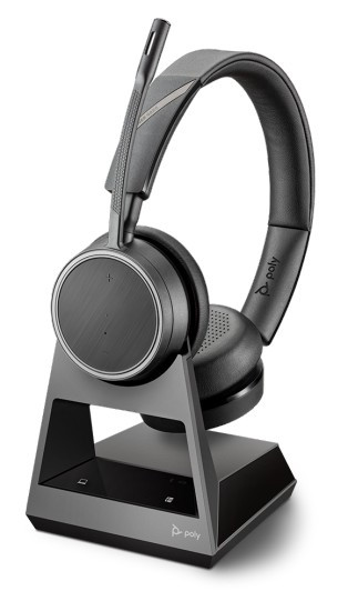 Plantronics Voyager V4220 D Office Dual Ear Wireless Bluetooth Headset with 1-Way Base (212721-01)