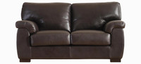 Jaymar Cannes Loveseat available in leather, fabric, or microfiber.