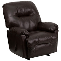 Flash Furniture | Contemporary Bentley Brown Leather Chaise Rocker Recliner