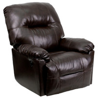 Flash Furniture | Contemporary Bentley Brown Leather Chaise Power Recliner with Push Button
