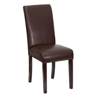 Flash Furniture | Dark Brown Leather Parsons Chair