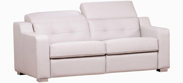 Jaymar Corrado Apartment Sofa is available in high quality leather, fabric, or microfiber.
