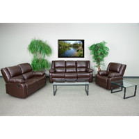 Flash Furniture | Harmony Series Brown Leather Reclining Sofa Set