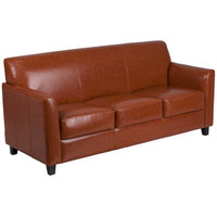 Flash Furniture | HERCULES Diplomat Series Cognac Leather Sofa