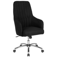 Flash Furniture | Albi Home and Office Upholstered High Back Chair in Black Fabric