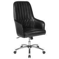 Flash Furniture | Albi Home and Office Upholstered High Back Chair in Black Leather