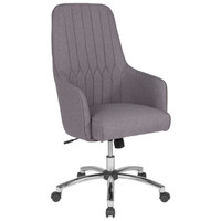 Flash Furniture | Albi Home and Office Upholstered High Back Chair in Light Gray Fabric