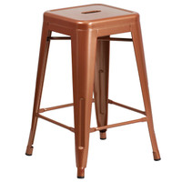 Flash Furniture | 24'' High Backless Copper Indoor-Outdoor Counter Height Stool