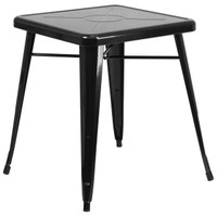 Flash Furniture | 23.75'' Square Black Metal Indoor-Outdoor Table