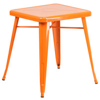 Flash Furniture | 23.75'' Square Orange Metal Indoor-Outdoor Table