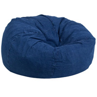 Flash Furniture | Oversized Denim Kids Bean Bag Chair