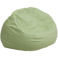 Flash Furniture | Oversized Green Dot Bean Bag Chair