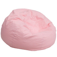 Flash Furniture | Oversized Light Pink Dot Bean Bag Chair
