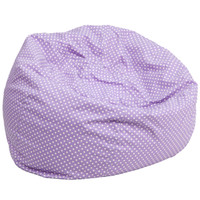 Flash Furniture | Oversized Lavender Dot Bean Bag Chair