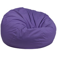 Flash Furniture | Oversized Solid Purple Bean Bag Chair