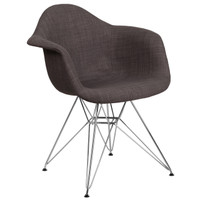 Flash Furniture | Alonza Series Siena Gray Fabric Chair with Chrome Base