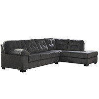 Flash Furniture | Signature Design by Ashley Accrington 2-Piece Left Side Facing Sofa Sectional in Granite Microfiber