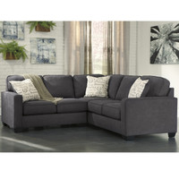 Flash Furniture | Signature Design by Ashley Alenya 2-Piece Sofa Sectional in Charcoal Microfiber