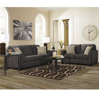 Flash Furniture | Signature Design by Ashley Alenya Living Room Set in Charcoal Microfiber