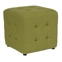 Flash Furniture | Avendale Tufted Upholstered Ottoman Pouf in Green Fabric