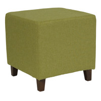 Flash Furniture | Ascalon Upholstered Ottoman Pouf in Green Fabric