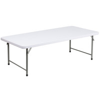 Flash Furniture | 30''W x 60''L x 19''H Kid's Granite White Plastic Folding Table