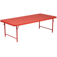 Flash Furniture | 30''W x 60''L x 19''H Kid's Red Plastic Folding Table