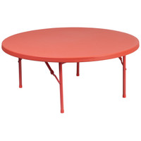 Flash Furniture | 48'' Round Kid's Red Plastic Folding Table