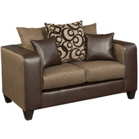Flash Furniture | Riverstone Object Espresso Chenille Loveseat