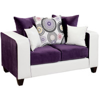 Flash Furniture | Riverstone Implosion Purple Velvet Loveseat