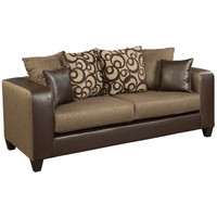 Flash Furniture | Riverstone Object Espresso Chenille Sofa